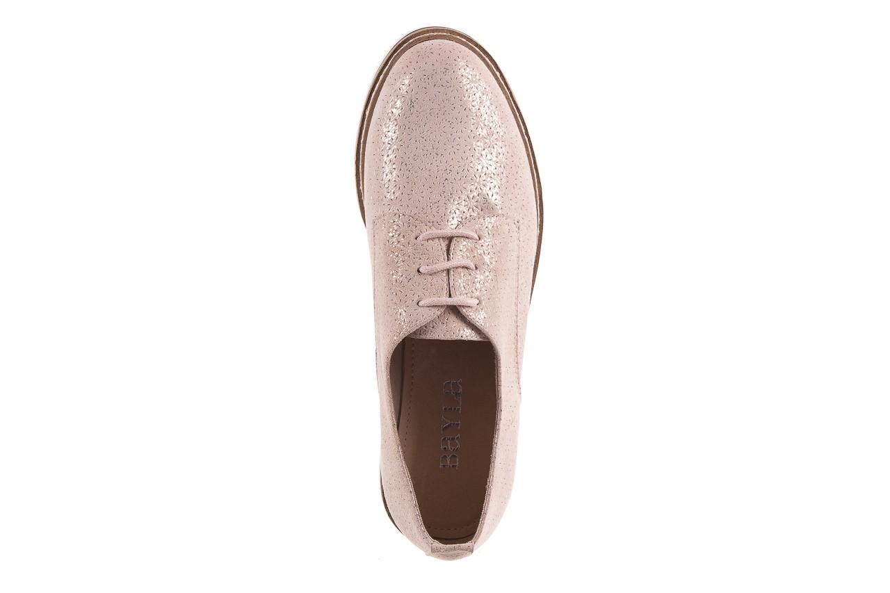 Półbuty bayla-018 1822-x1 nude 018532, beż, skóra naturalna  - zamszowe - półbuty - buty damskie - kobieta 14