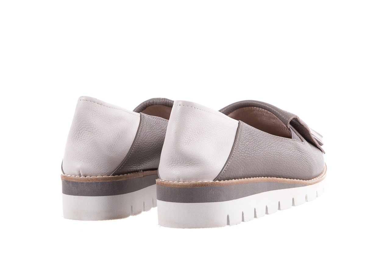 Mokasyny bayla-018 1133-x86 grey off white 018506, szary/biały, skóra naturalna  - bayla - nasze marki 10