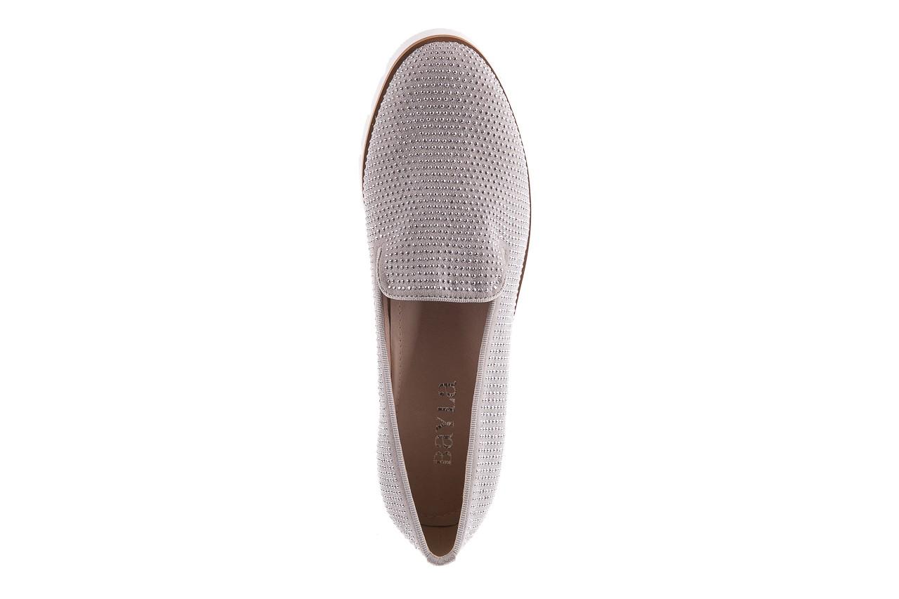 Mokasyny bayla-018 1556-38 lt. grey lt. grey 018513, szary, materiał - mokasyny i lordsy - półbuty - buty damskie - kobieta 11
