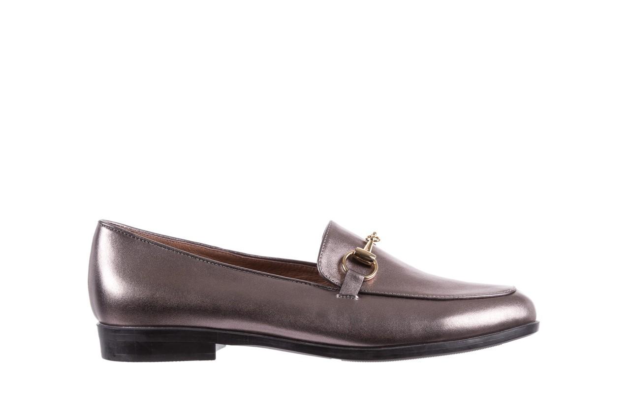 Mokasyny bayla-018 1133-246 pewter, srebrny, skóra naturalna  - mokasyny i lordsy - półbuty - buty damskie - kobieta 7