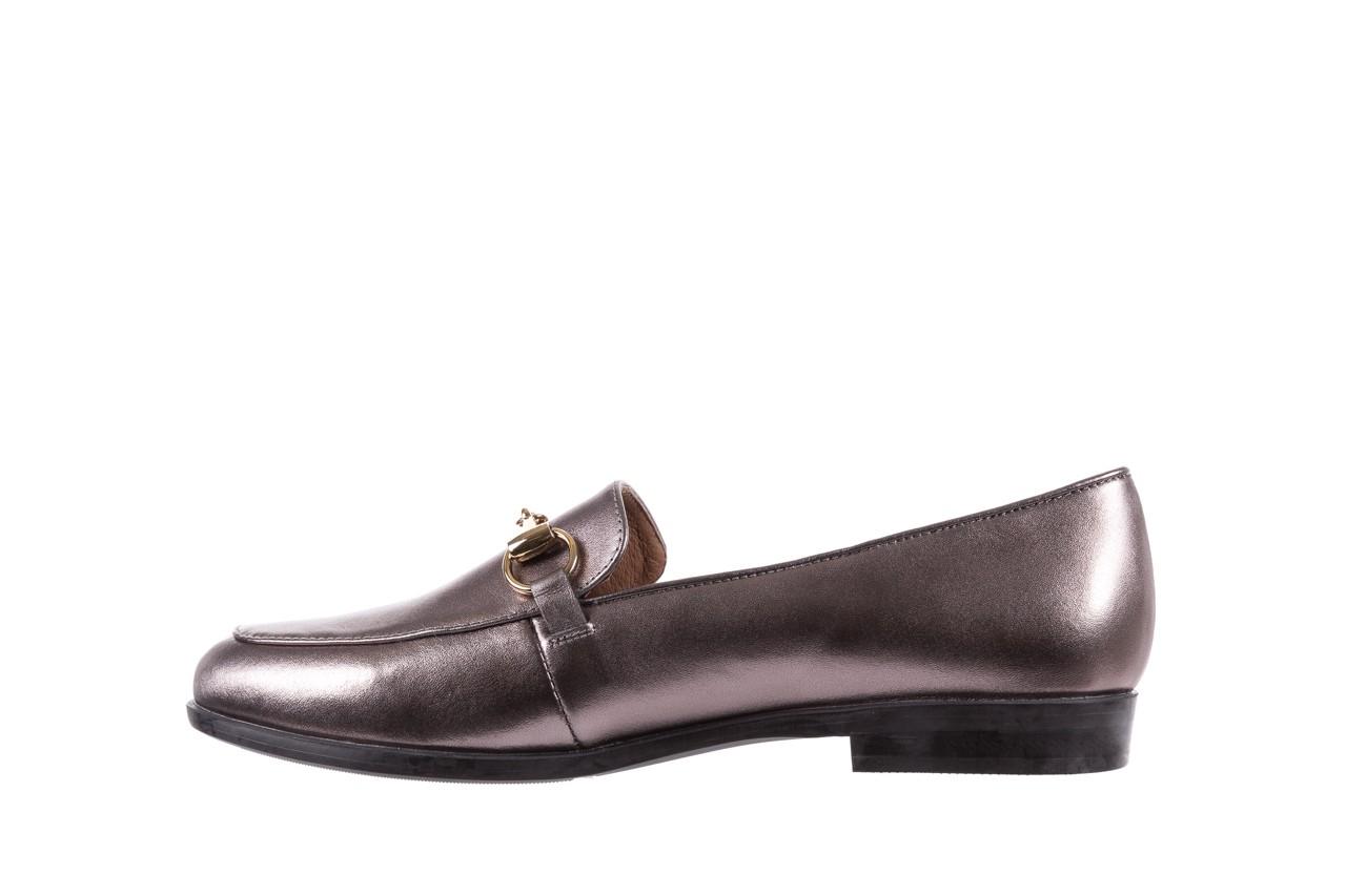 Mokasyny bayla-018 1133-246 pewter, srebrny, skóra naturalna  - mokasyny i lordsy - półbuty - buty damskie - kobieta 10