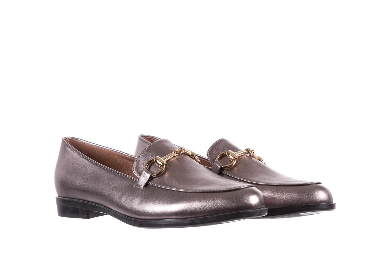 Mokasyny bayla-018 1133-246 pewter, srebrny, skóra naturalna  - mokasyny i lordsy - półbuty - buty damskie - kobieta 8