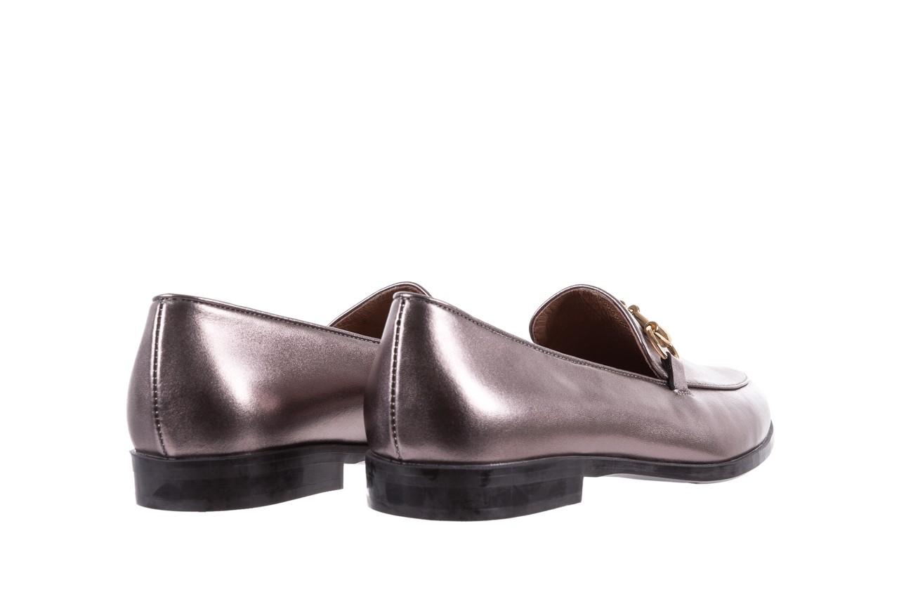 Mokasyny bayla-018 1133-246 pewter, srebrny, skóra naturalna  - mokasyny i lordsy - półbuty - buty damskie - kobieta 11