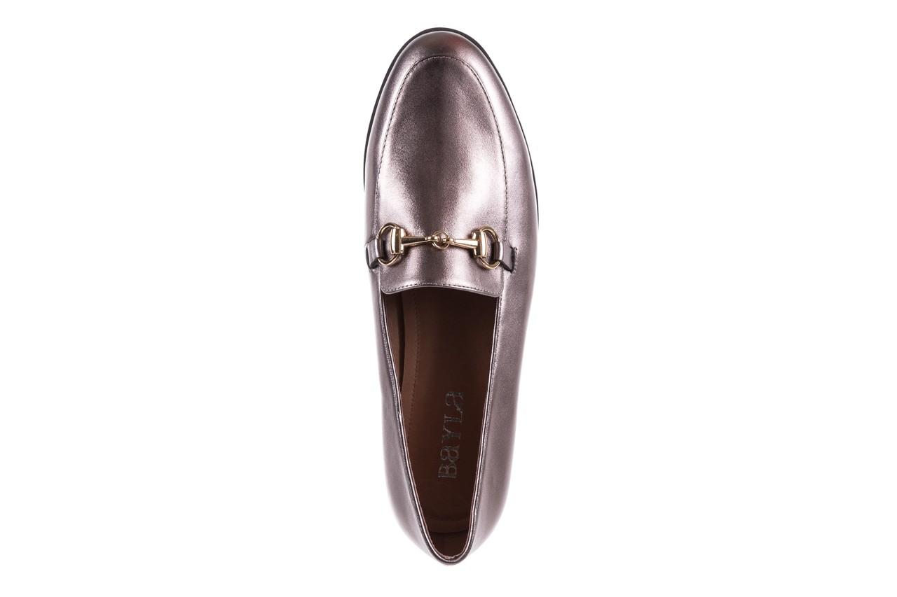 Mokasyny bayla-018 1133-246 pewter, srebrny, skóra naturalna  - mokasyny i lordsy - półbuty - buty damskie - kobieta 12