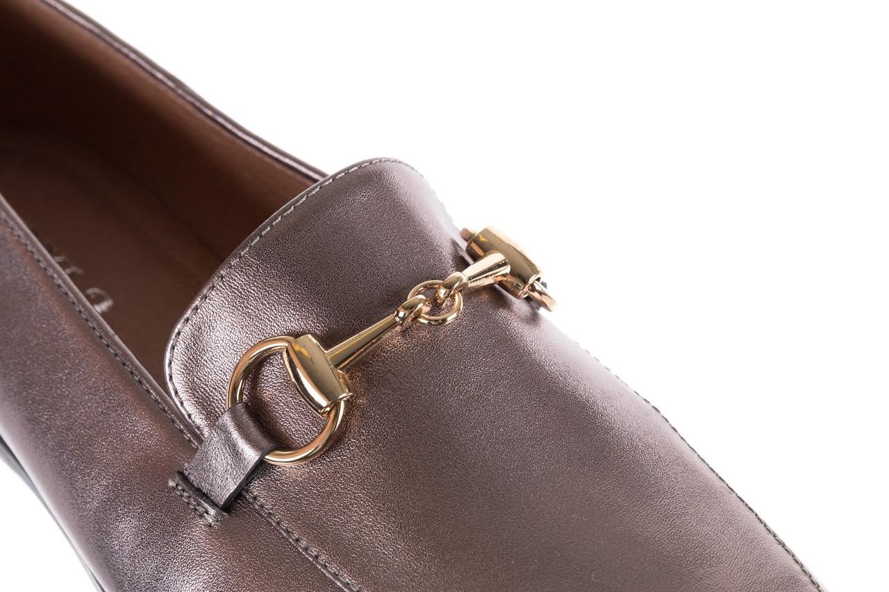 Mokasyny bayla-018 1133-246 pewter, srebrny, skóra naturalna  - mokasyny i lordsy - półbuty - buty damskie - kobieta 13