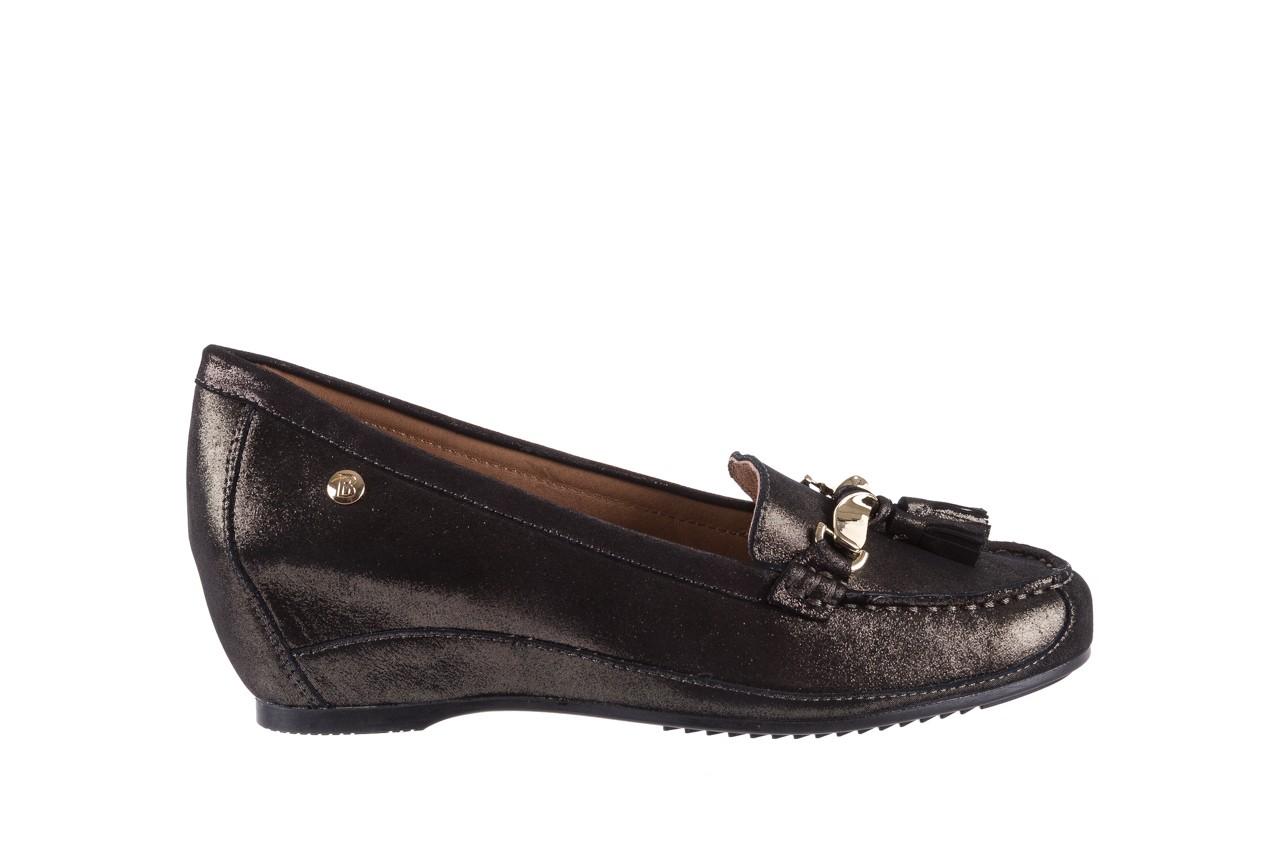 Mokasyny bayla-018 1647-35 grey, czarny, skóra naturalna  - na koturnie - półbuty - buty damskie - kobieta 6
