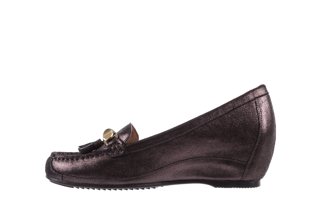 Mokasyny bayla-018 1647-35 grey, czarny, skóra naturalna  - na koturnie - półbuty - buty damskie - kobieta 8