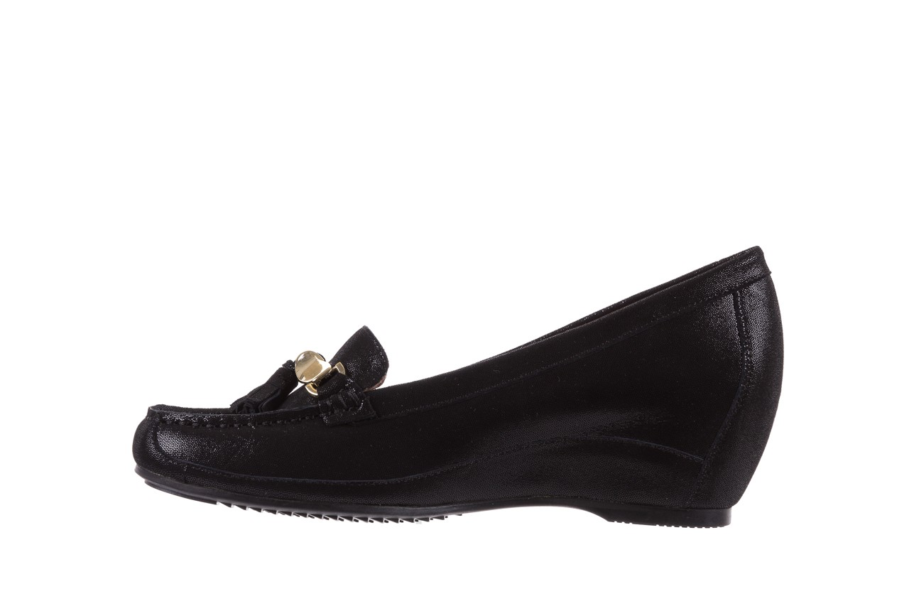 Mokasyny bayla-018 1647-35 black, czarny, skórna naturalna  - na koturnie - półbuty - buty damskie - kobieta 9
