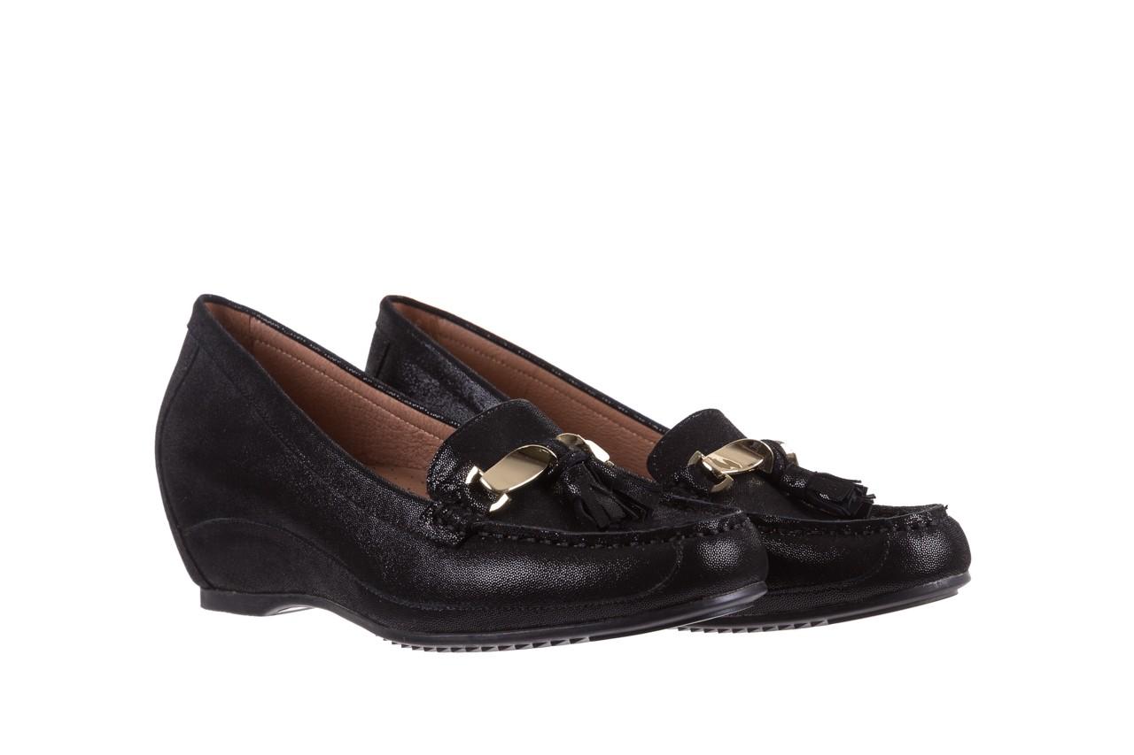 Mokasyny bayla-018 1647-35 black, czarny, skórna naturalna  - na koturnie - półbuty - buty damskie - kobieta 8