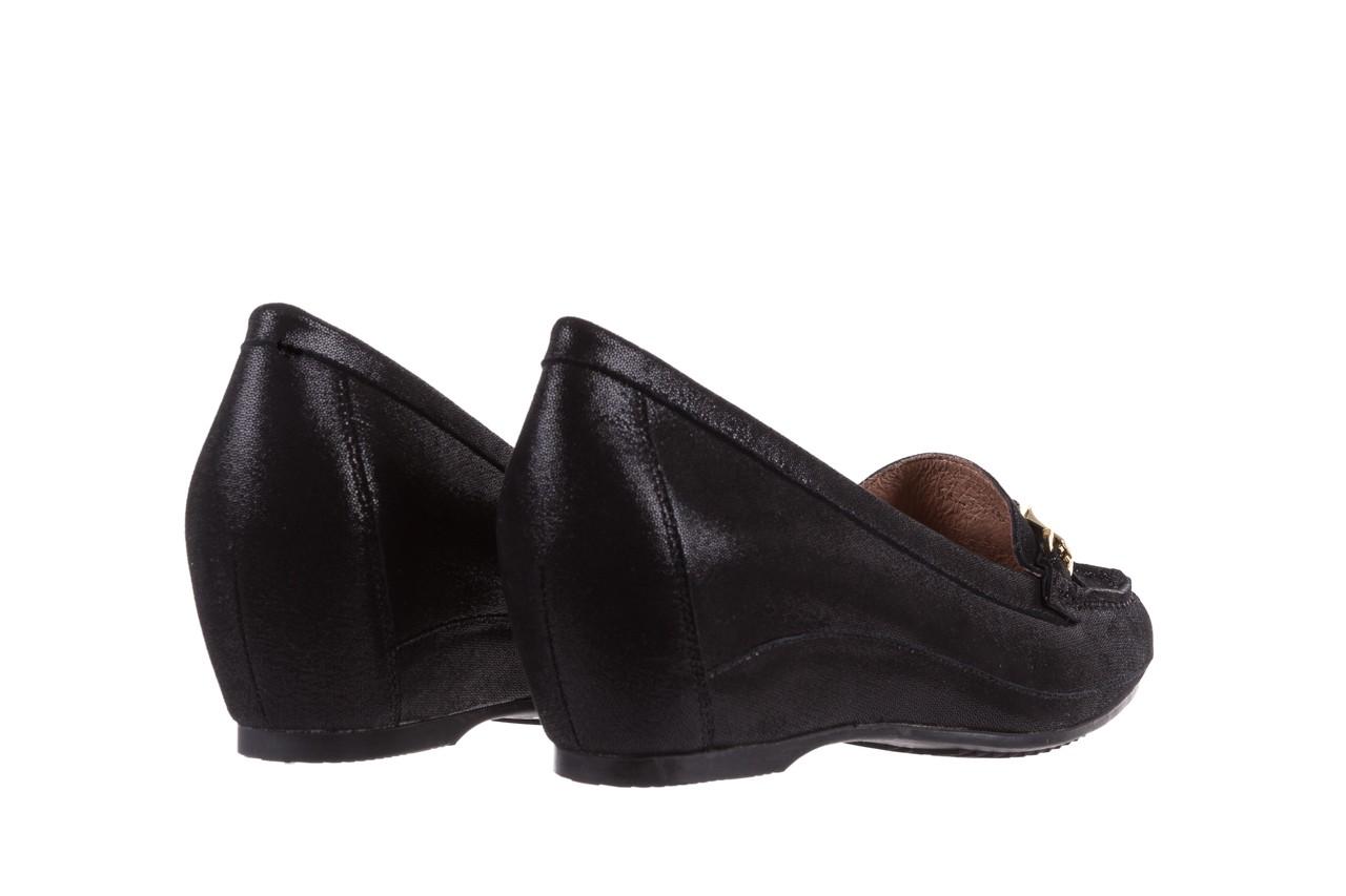 Mokasyny bayla-018 1647-35 black, czarny, skórna naturalna  - na koturnie - półbuty - buty damskie - kobieta 10