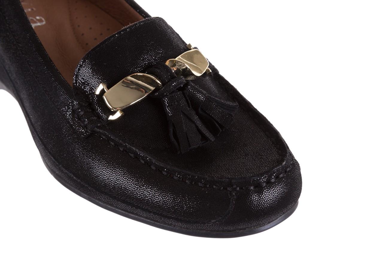 Mokasyny bayla-018 1647-35 black, czarny, skórna naturalna  - na koturnie - półbuty - buty damskie - kobieta 12
