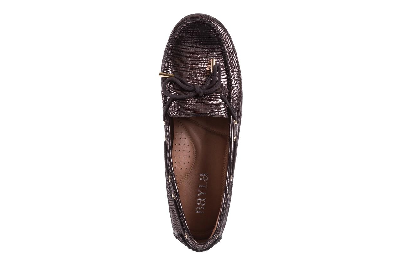 Mokasyny bayla-018 3173-358 pewter, czarny, skóra naturalna   - zamszowe - półbuty - buty damskie - kobieta 11