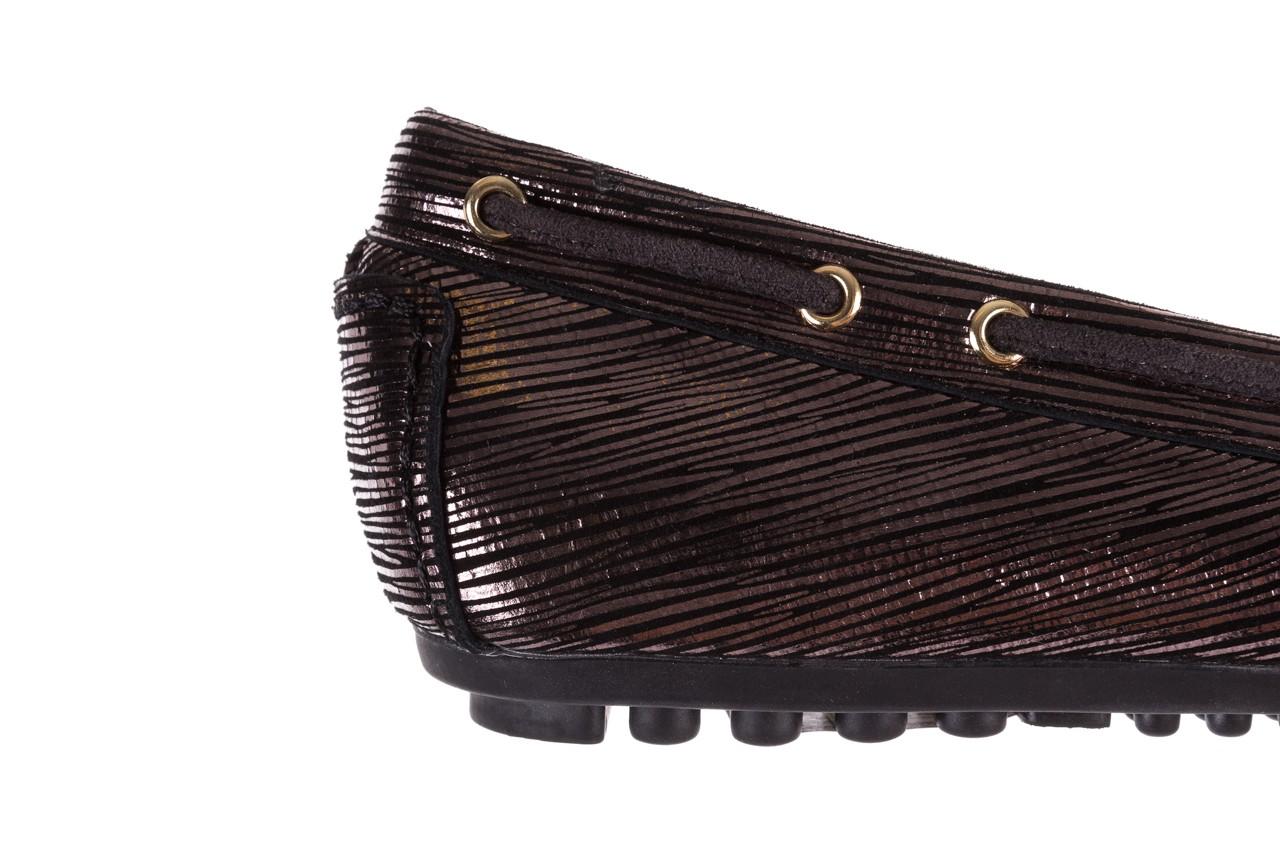 Mokasyny bayla-018 3173-358 pewter, czarny, skóra naturalna   - zamszowe - półbuty - buty damskie - kobieta 12