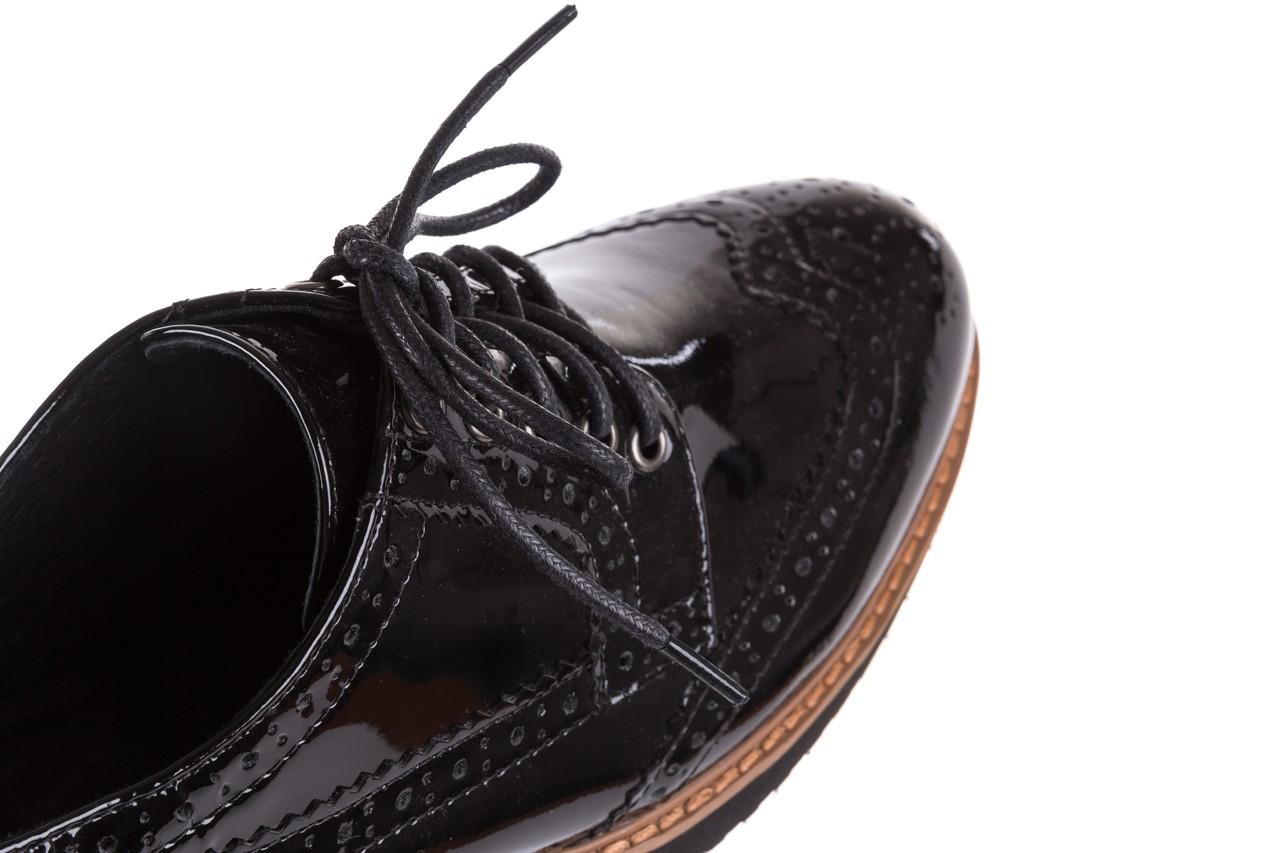 Półbuty bayla-018 1661-x32 black, czarny, skóra naturalna lakierowana 17