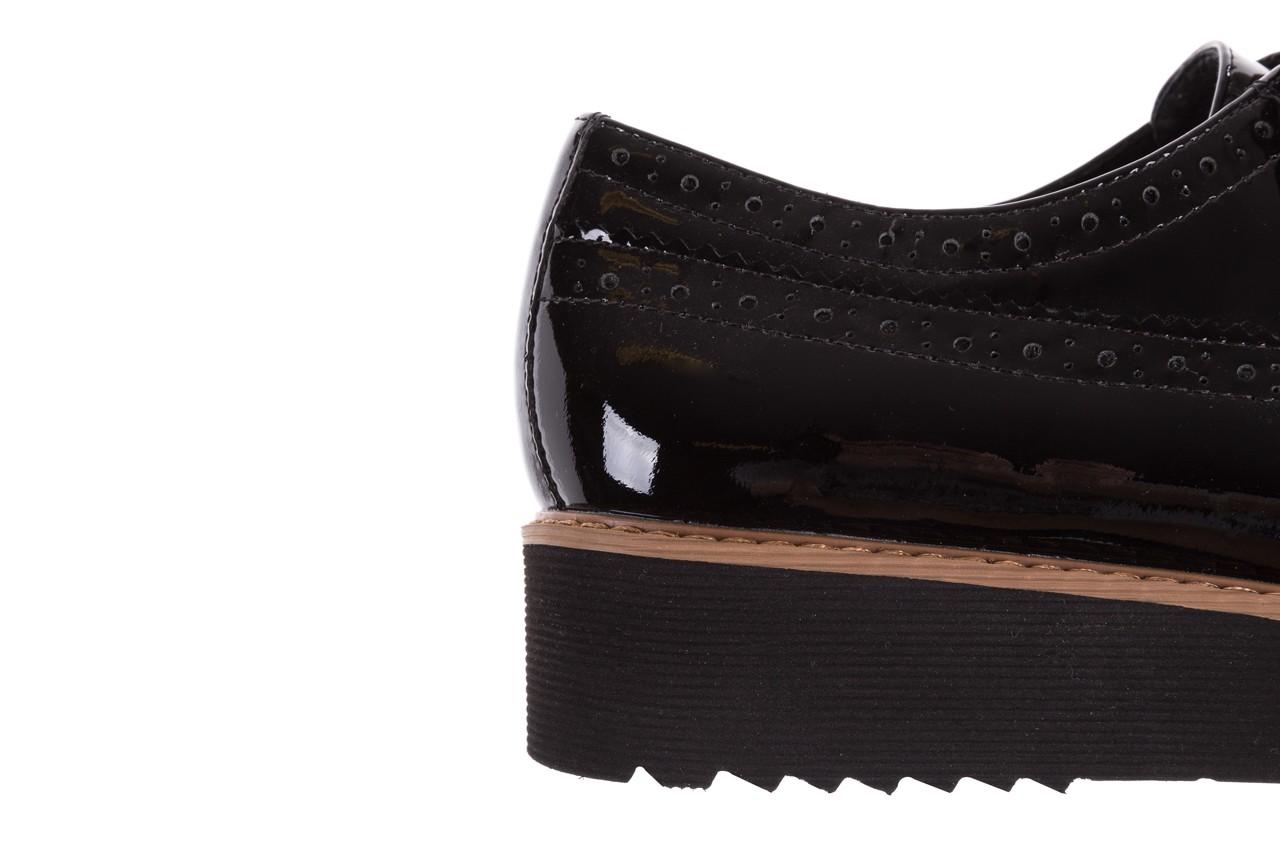 Półbuty bayla-018 1661-x32 black, czarny, skóra naturalna lakierowana 15