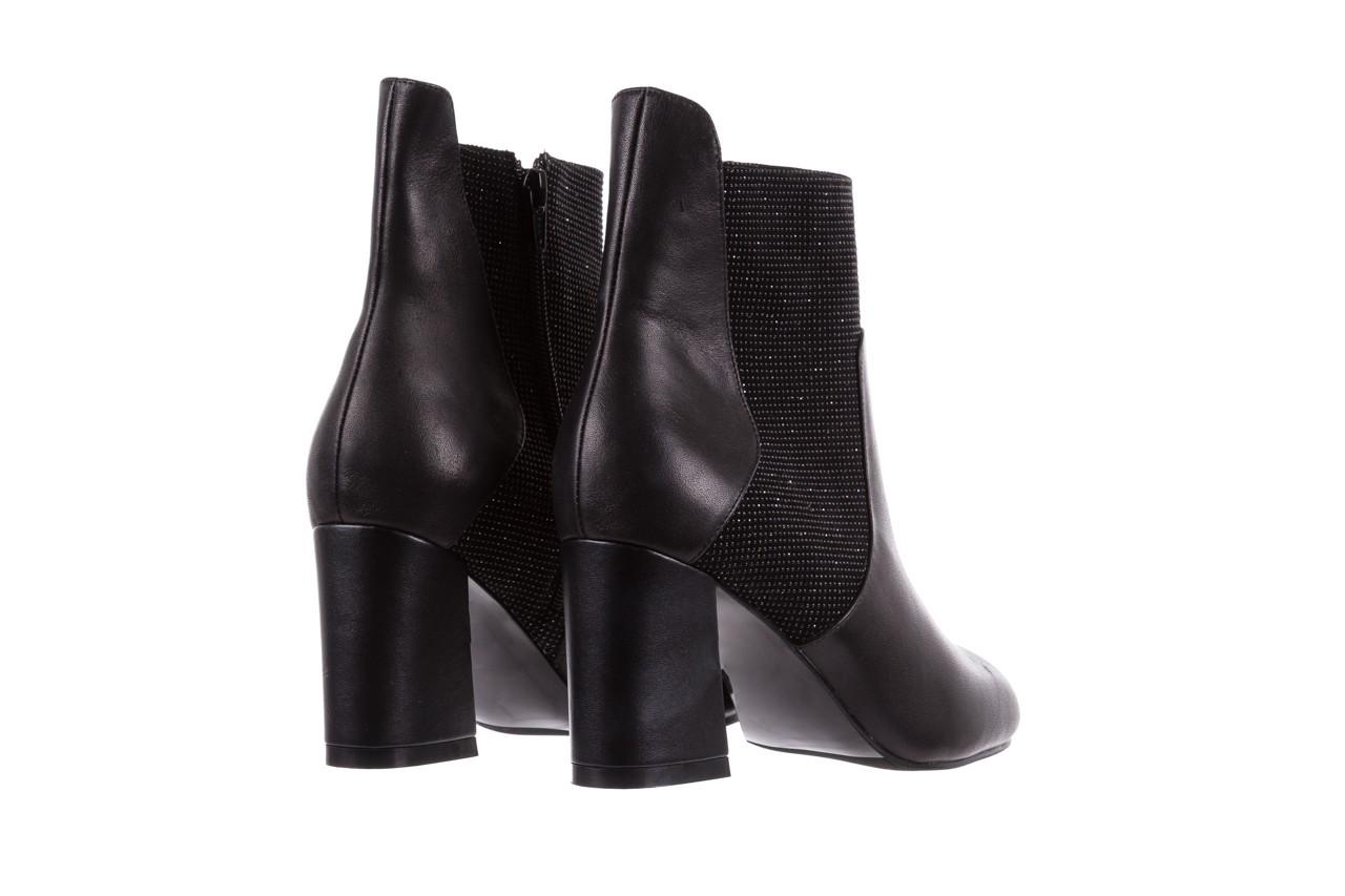 Botki bayla-018 pe70-x2 black black, czarny, skóra naturalna  - glitter shine - trendy - kobieta 11