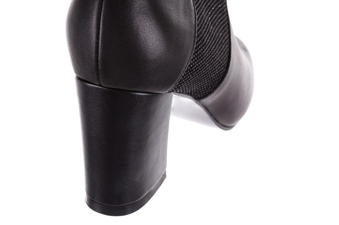 Botki bayla-018 pe70-x2 black black, czarny, skóra naturalna  - glitter shine - trendy - kobieta 13