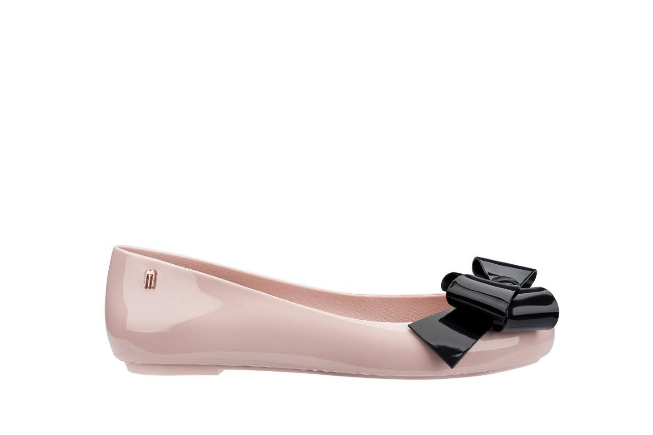 Baleriny melissa space love iv ad pink black 18 010246, róż/czarny, guma - melissa - nasze marki 3