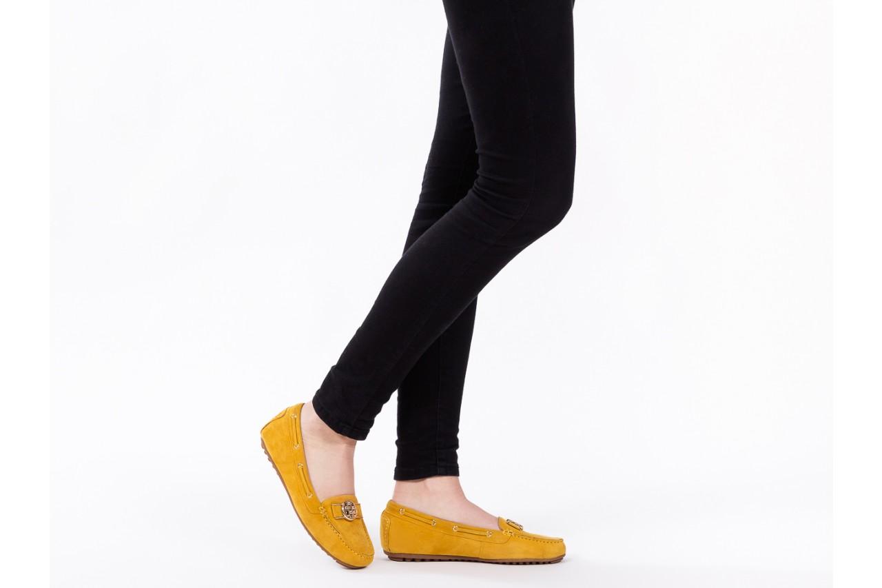 Mokasyny bayla-018 3173-335 yellow 018545, żółty, skóra naturalna  - bayla - nasze marki 13