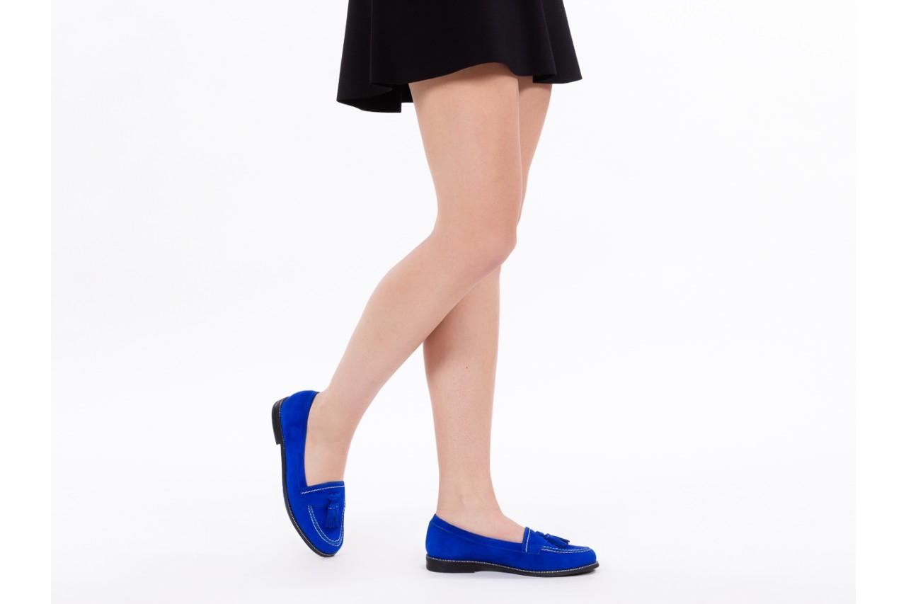Lordsy bayla-018 1556-x7 royal blue 018516, niebieski, skóra naturalna  - mokasyny i lordsy - półbuty - buty damskie - kobieta 13