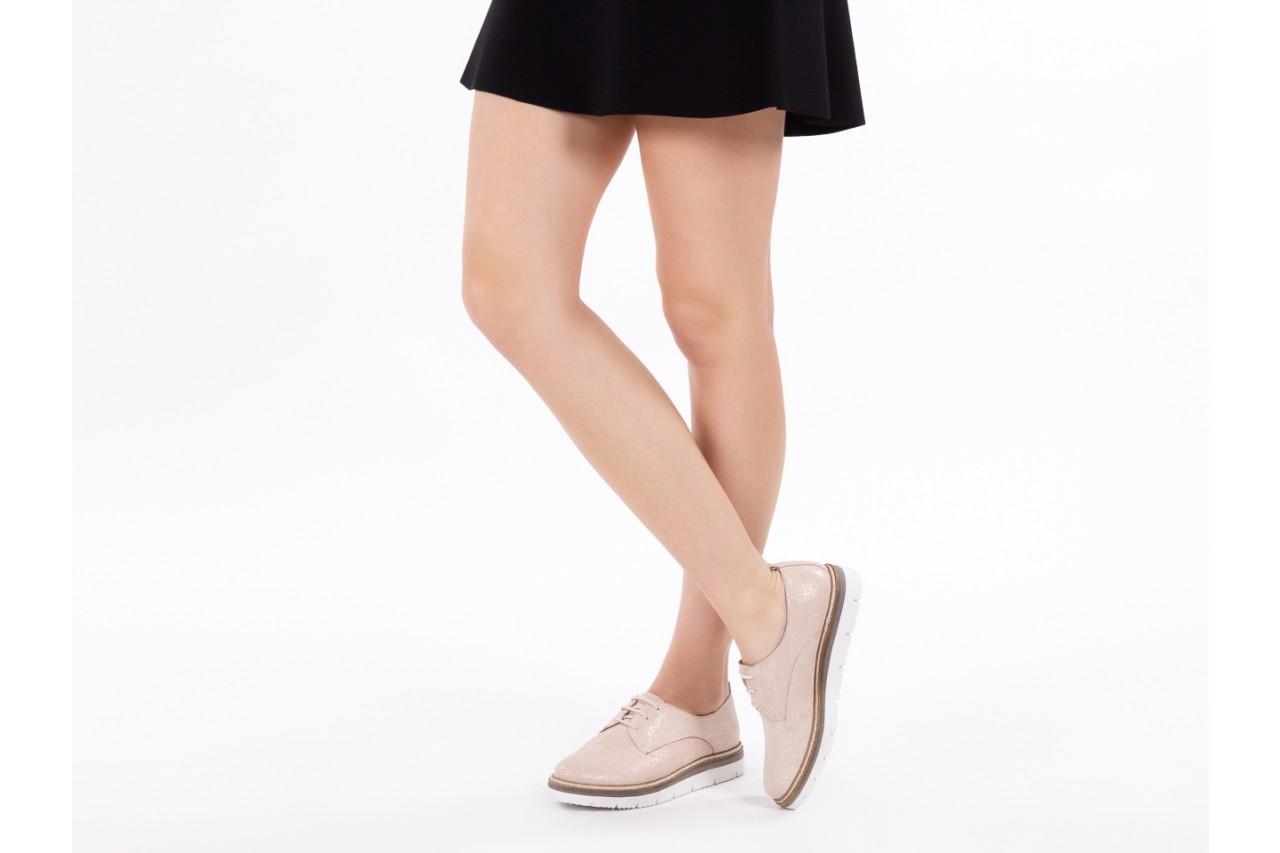 Półbuty bayla-018 1822-x1 nude 018532, beż, skóra naturalna  - zamszowe - półbuty - buty damskie - kobieta 15