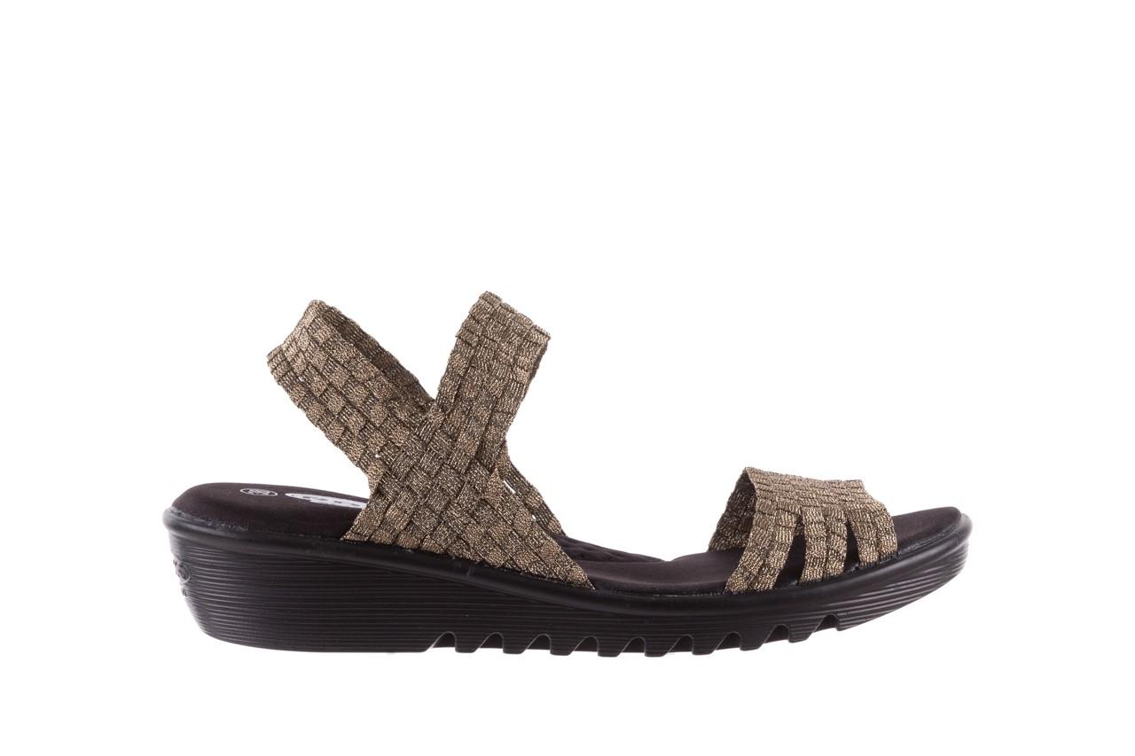 Sandały rock coaster bronze, brąz, materiał - koturny - buty damskie - kobieta 6