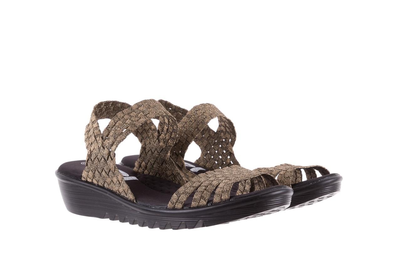 Sandały rock coaster bronze, brąz, materiał - koturny - buty damskie - kobieta 7