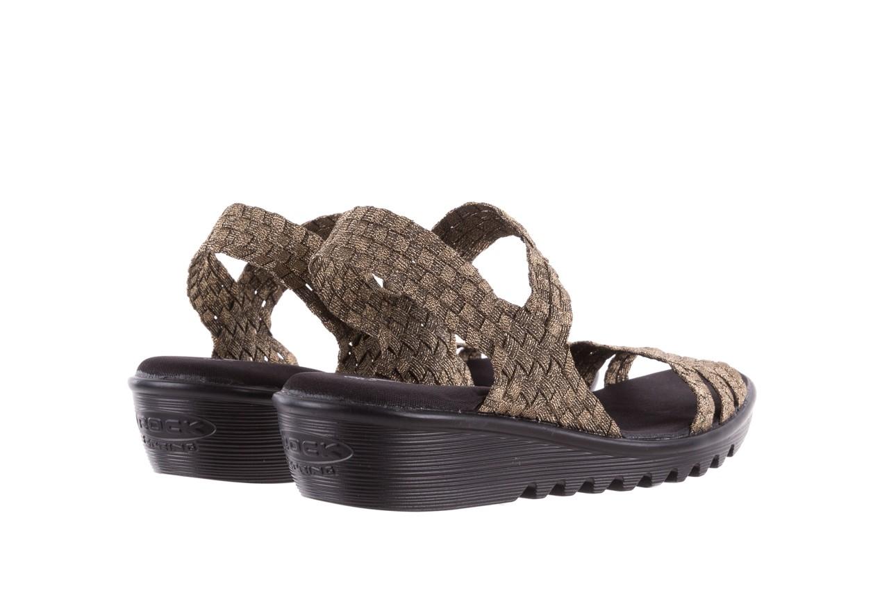 Sandały rock coaster bronze, brąz, materiał - koturny - buty damskie - kobieta 9