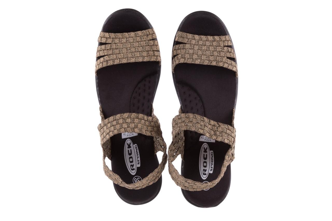 Sandały rock coaster bronze, brąz, materiał - koturny - buty damskie - kobieta 10