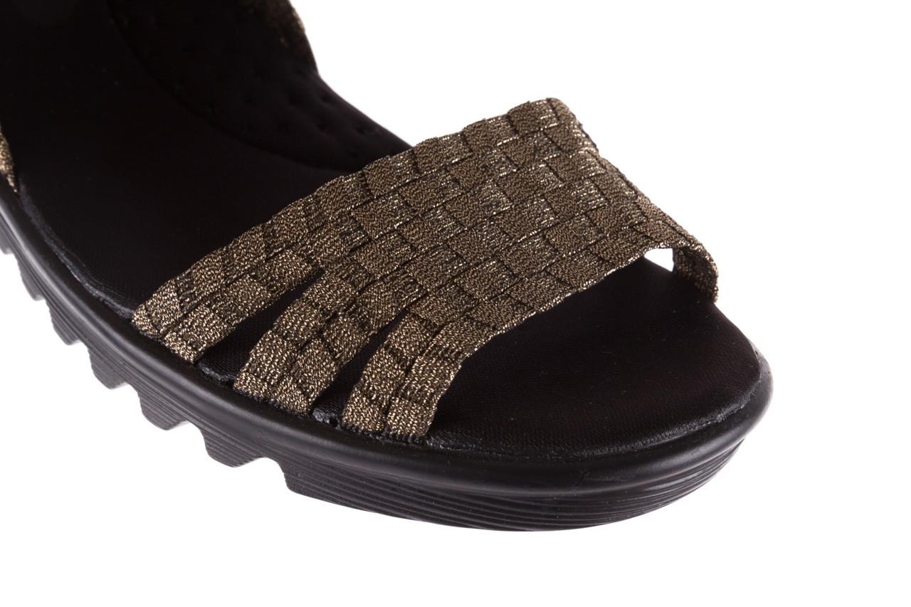 Sandały rock coaster bronze, brąz, materiał - koturny - buty damskie - kobieta 11