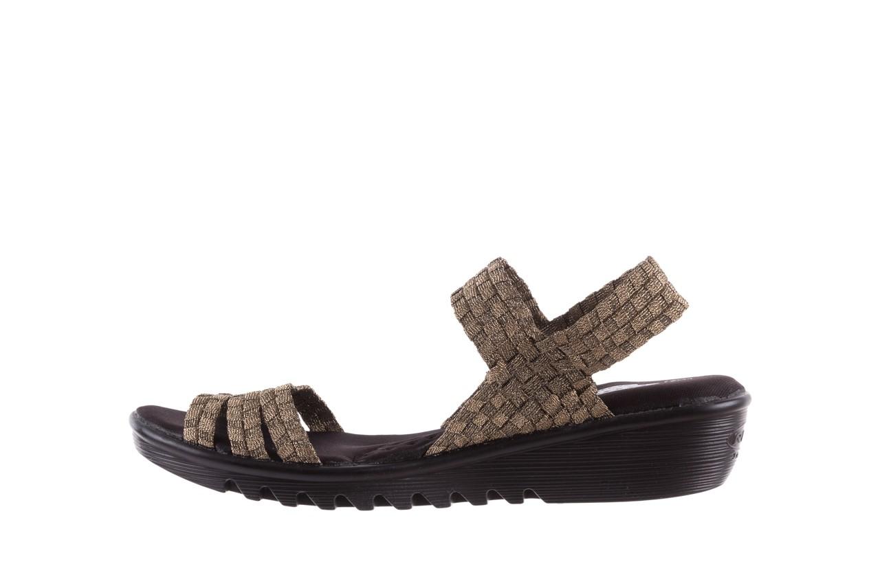 Sandały rock coaster bronze, brąz, materiał - koturny - buty damskie - kobieta 8