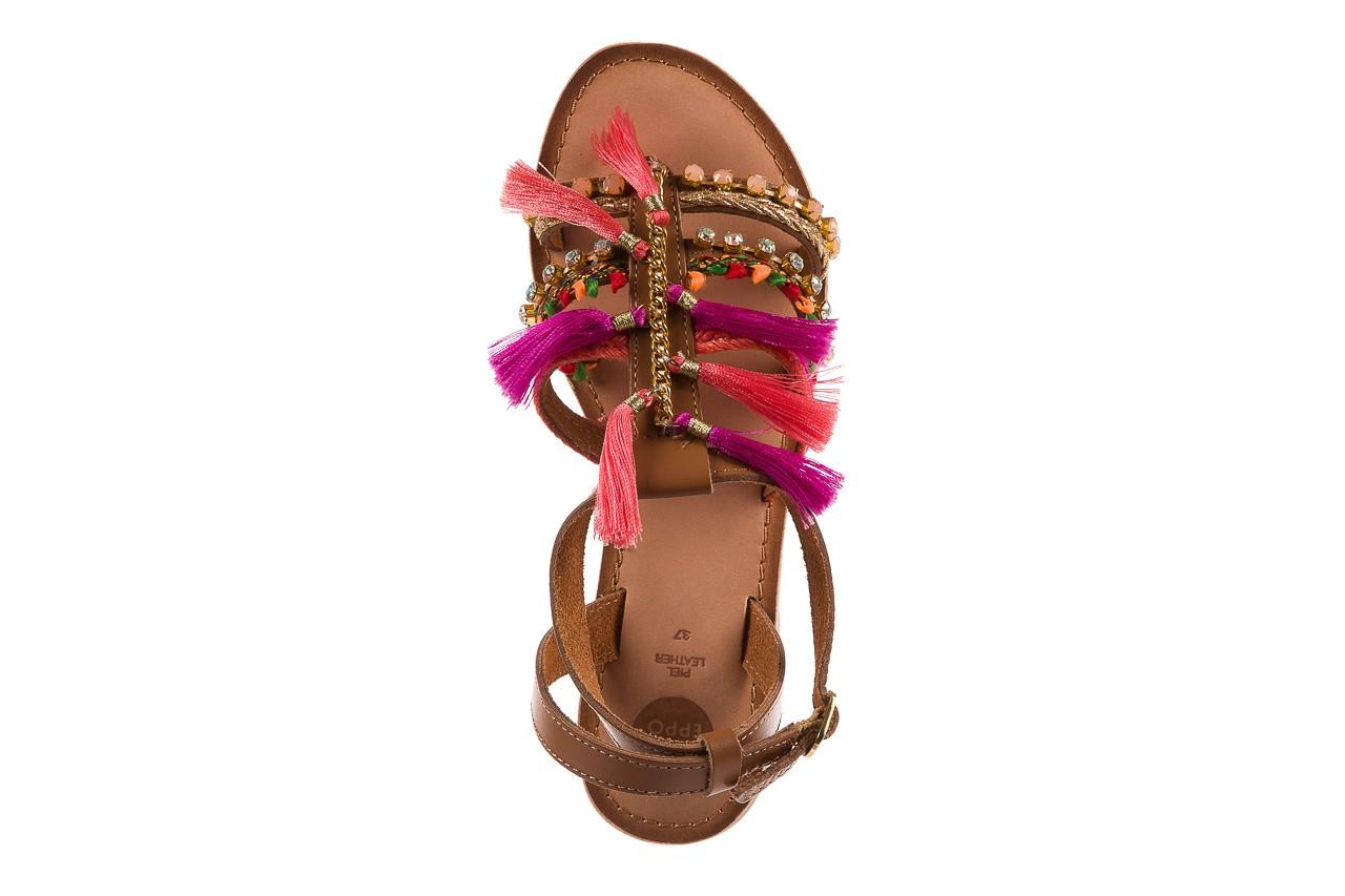 Sandały gioseppo nambi pink, brąz, skóra naturalna  - gioseppo - nasze marki 13