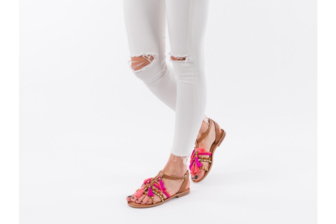Sandały gioseppo nambi pink, brąz, skóra naturalna  - gioseppo - nasze marki 15