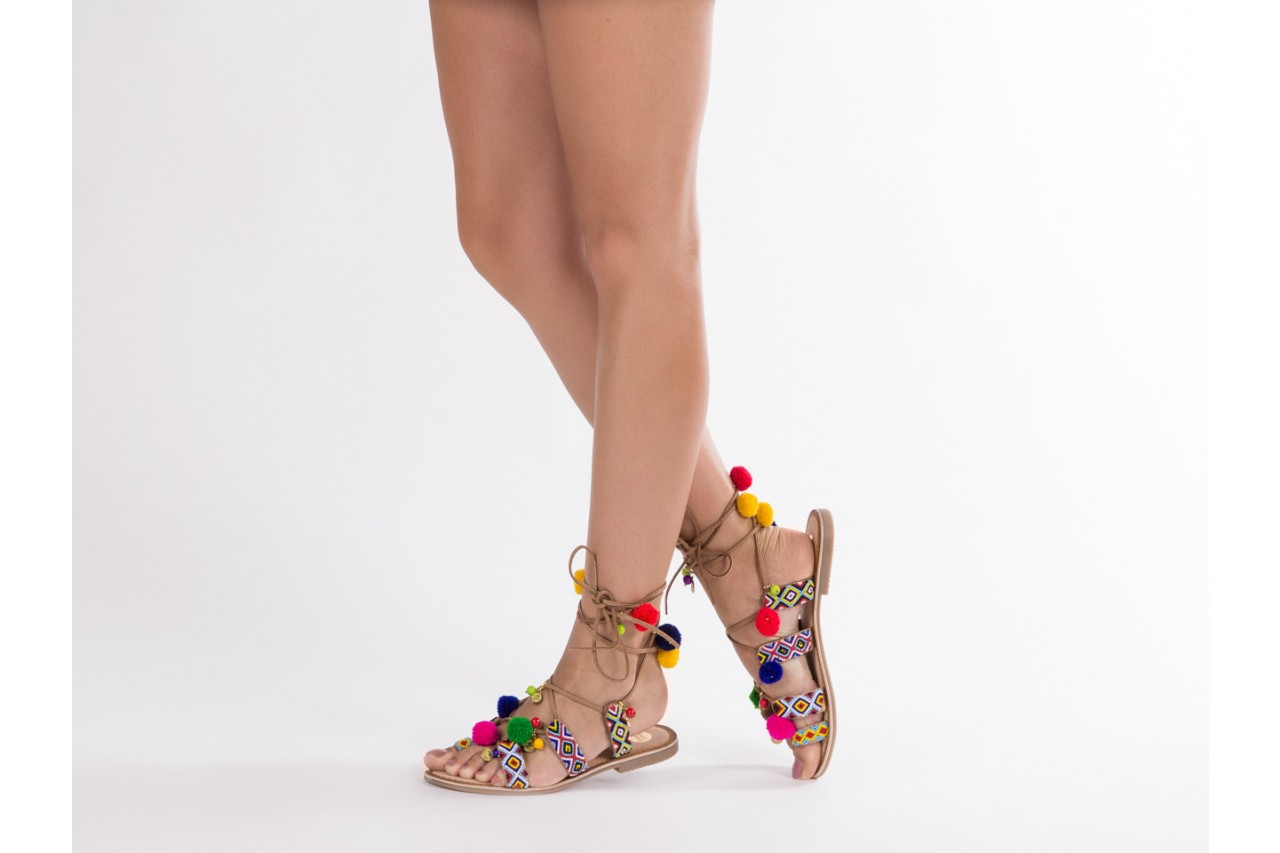 Sandały gioseppo omahas tan, wielokolorowy, skóra naturalna  - gioseppo - nasze marki 15