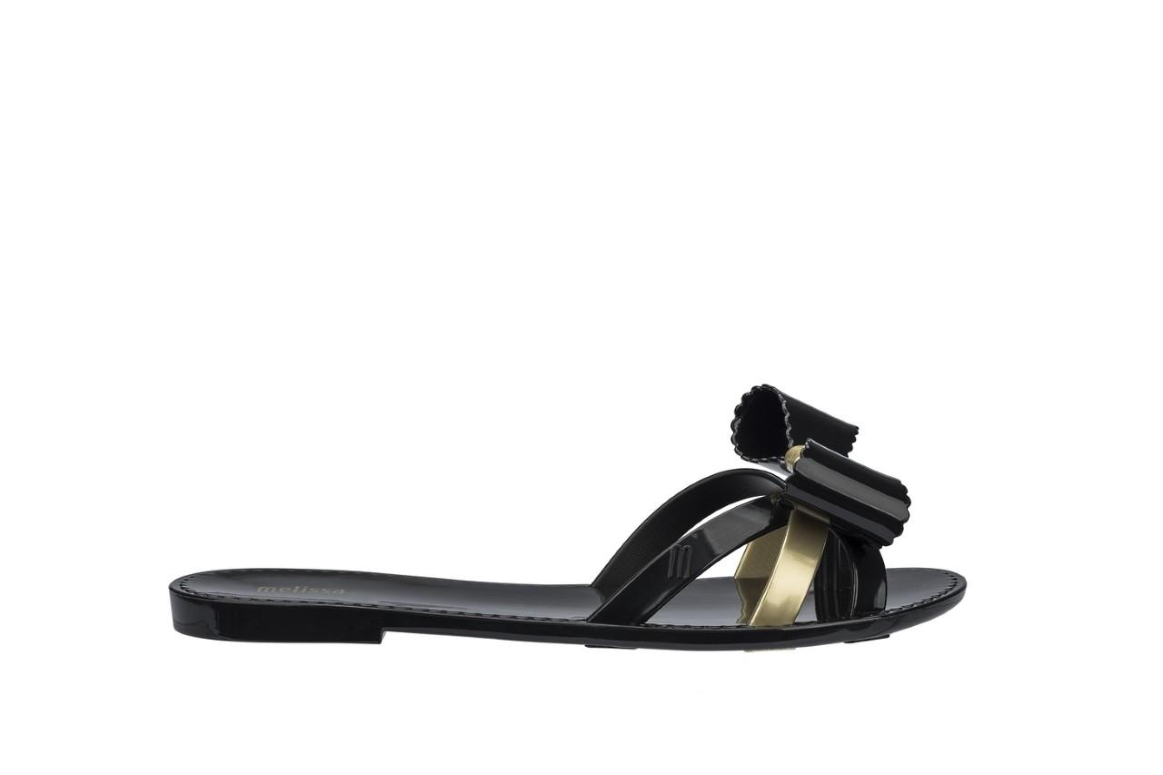 Klapki melissa fluffy ii ad black gold, złoty/czarny, guma - japonki - klapki - buty damskie - kobieta 3