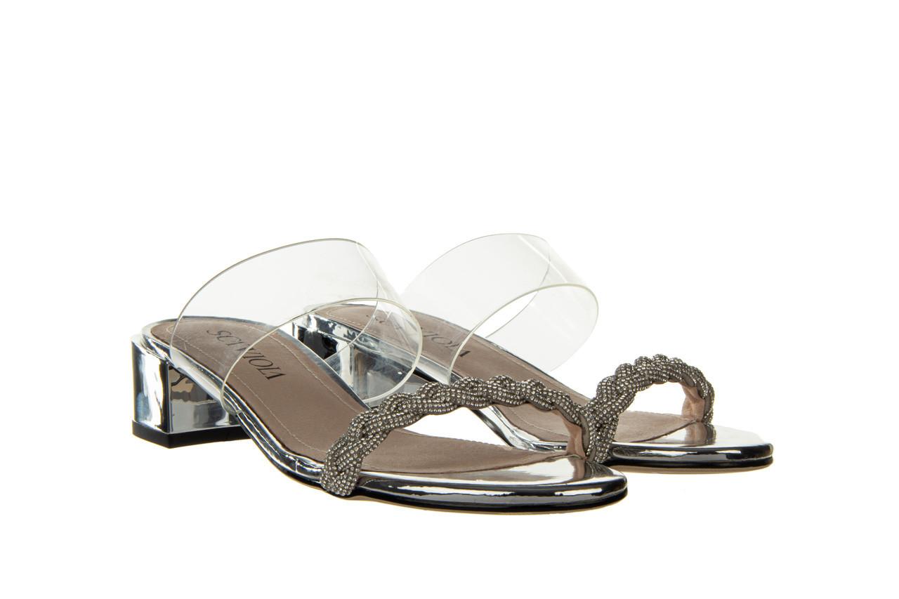 Klapki sca'viola b-205 silver 047180, srebro, silikon - klapki - buty damskie - kobieta 11