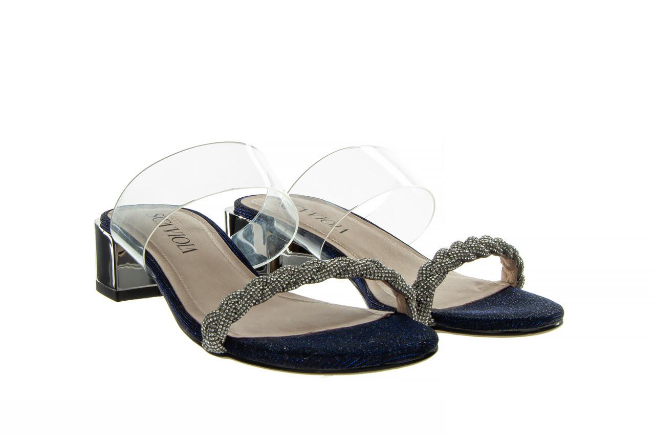 Klapki sca'viola b-204 d blue 047179, granat, silikon  - klapki - buty damskie - kobieta 11
