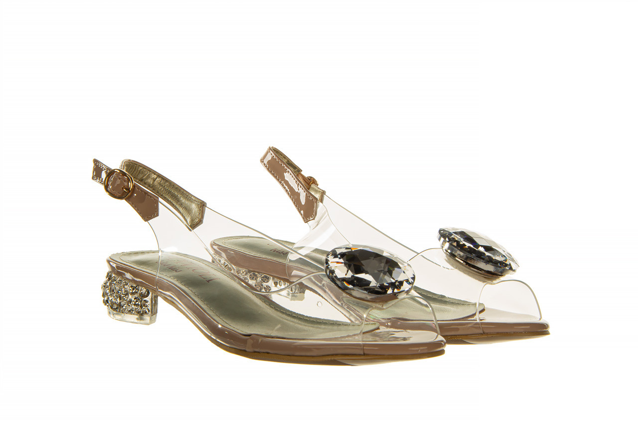 Sandały sca'viola g-15 l pink 21 047182, róż, silikon - na obcasie - sandały - buty damskie - kobieta 11