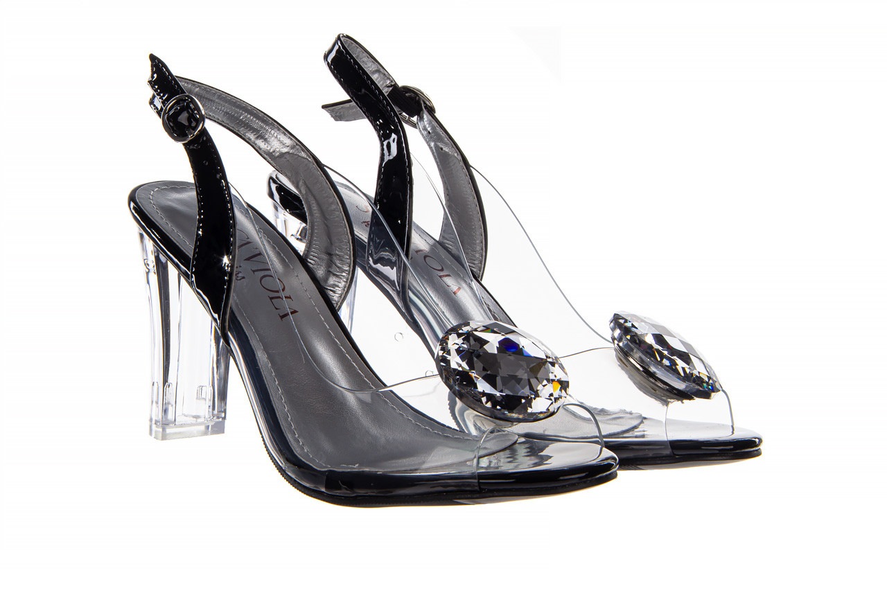 Sandały sca'viola g-17 black 21 047184, czarny, silikon  - na obcasie - sandały - buty damskie - kobieta 11