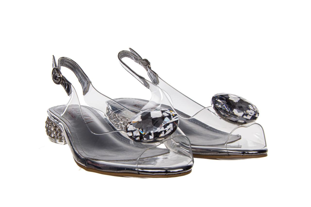 Sandały sca'viola g-15 silver 21 047183, srebro, silikon  - na obcasie - sandały - buty damskie - kobieta 11