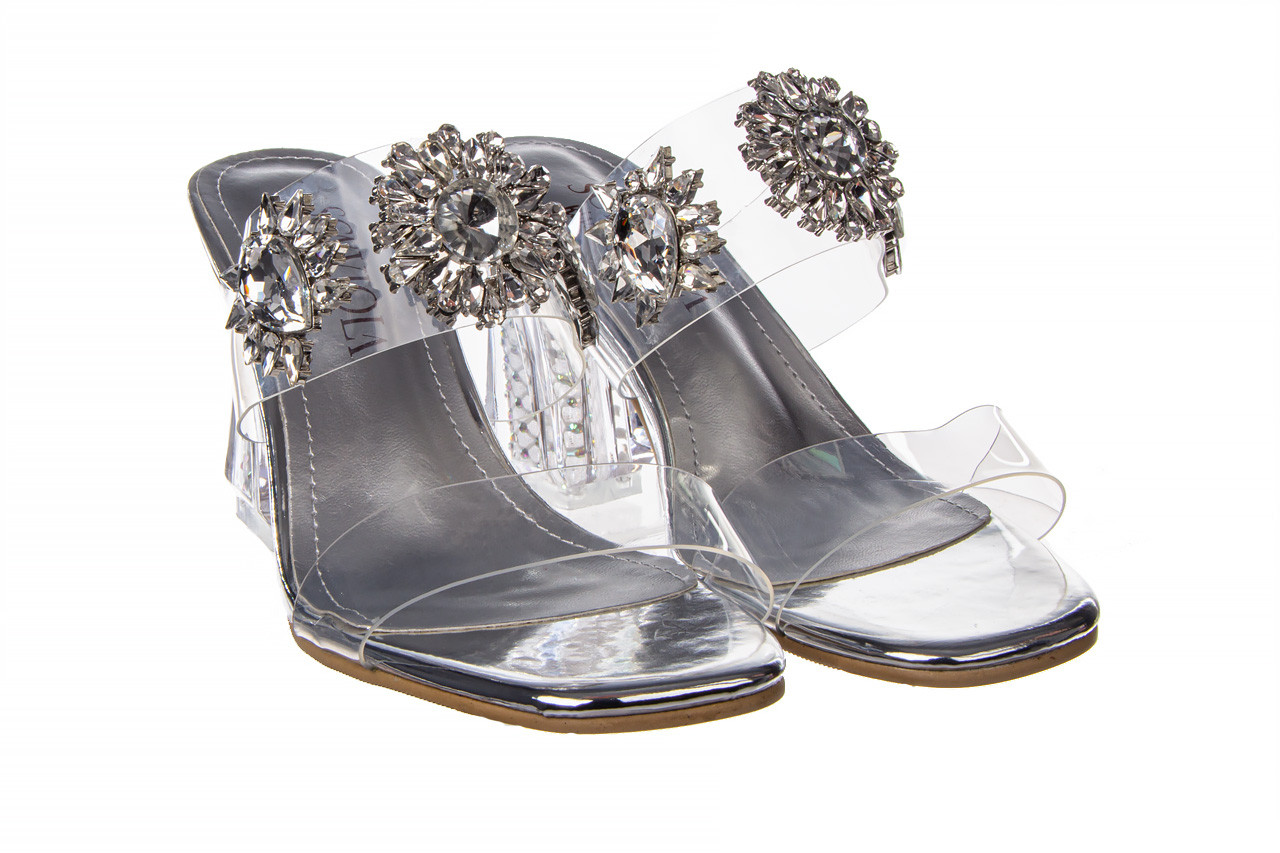 Klapki sca'viola g-58 silver 047188, srebro, silikon  - klapki - buty damskie - kobieta 10