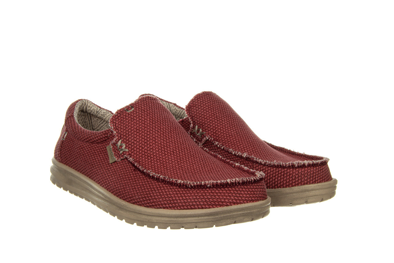 Półbuty heydude mikka braided pompeian red 003215, czerwony, materiał  - nowości 9