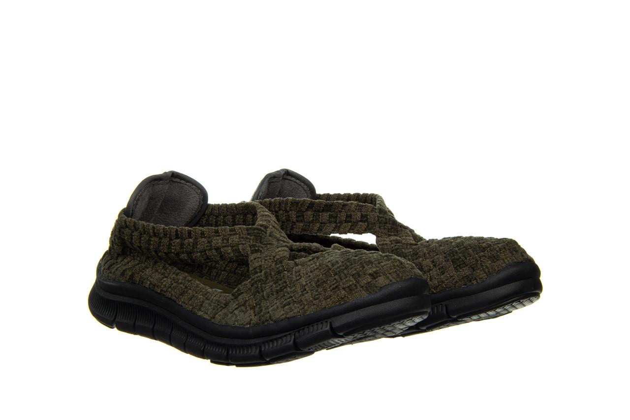 Półbuty rock berta moss cashmere 032815, zielony, materiał - dla niej  - sale 9