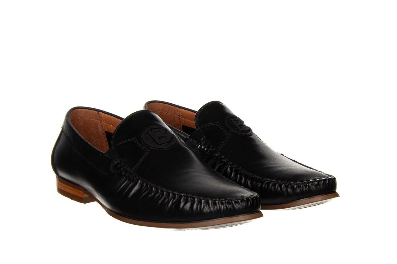 Mokasyny john doubare ygc-z2154-301-10 black 104174, czarny, skóra naturalna  - mokasyny i espadryle - buty męskie - mężczyzna 11
