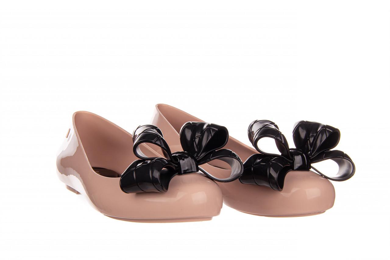 Baleriny melissa sweet love iv ad pink black 010371, róż, guma  - baleriny - melissa - nasze marki 9