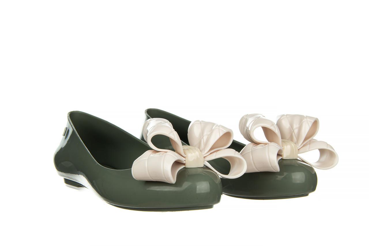 Baleriny melissa sweet love iv ad green beige 010370, zielony, guma 9