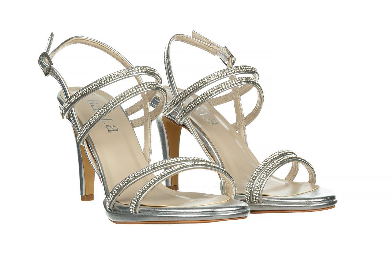 Sandały bayla-187 587-1120 silver 187016, srebro, skóra ekologiczna  - sandały - buty damskie - kobieta 8