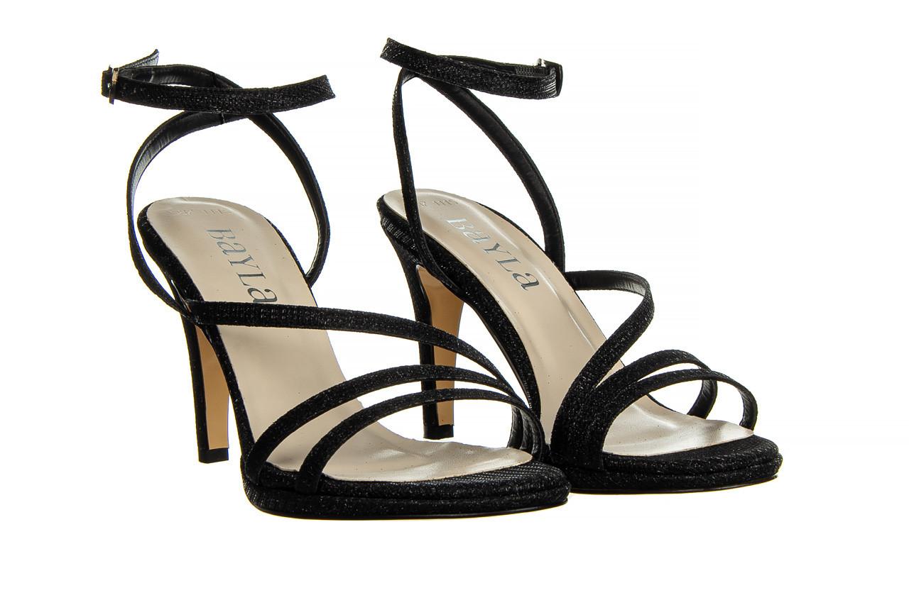 Sandały bayla-187 587-1115 black 187015, czarny, skóra ekologiczna  - sandały - buty damskie - kobieta 8