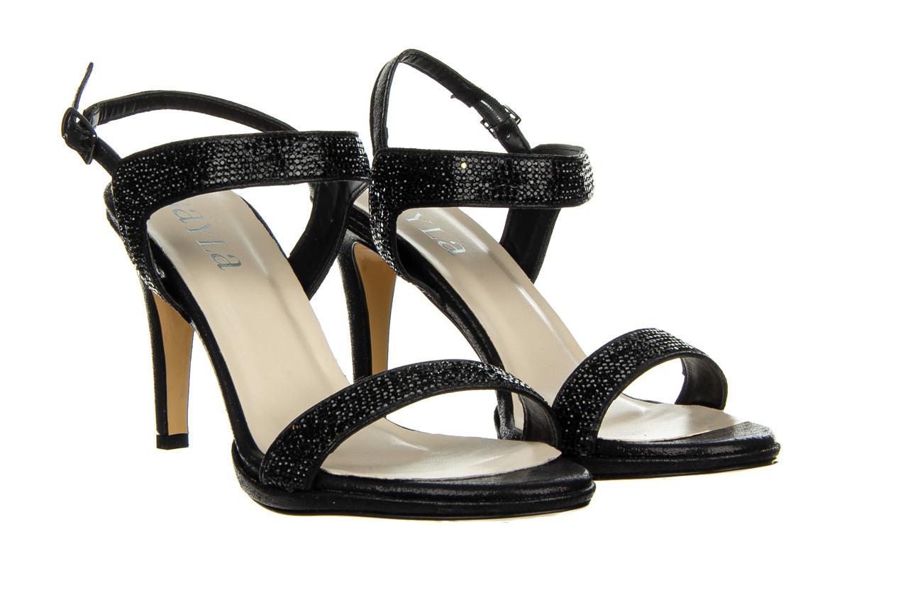 Sandały bayla-187 587-536 black 187019, czarny, skóra ekologiczna  - sandały - buty damskie - kobieta 8