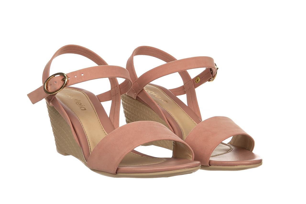 Sandały azaleia 680 242 suede old pink, róż, materiał  - koturny - buty damskie - kobieta 8